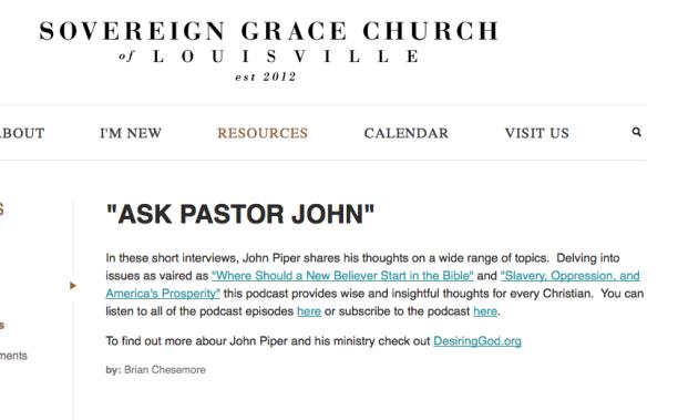 2014-05-10 SGM Louisville Ask Pastor John