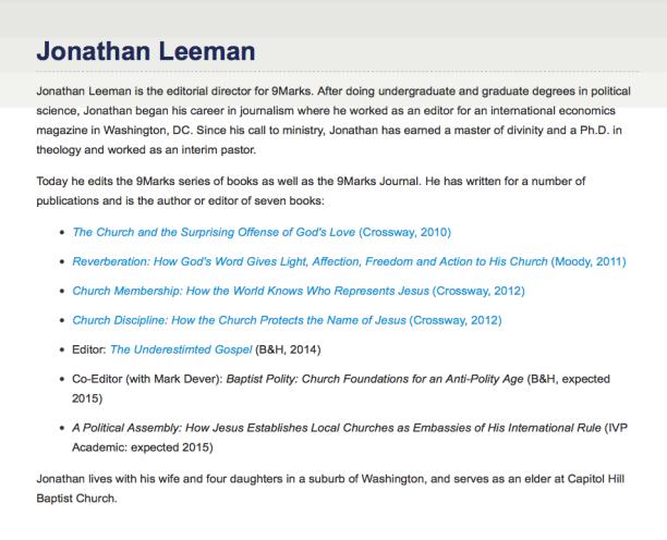2014-07-17 Jonathan Leeman bio