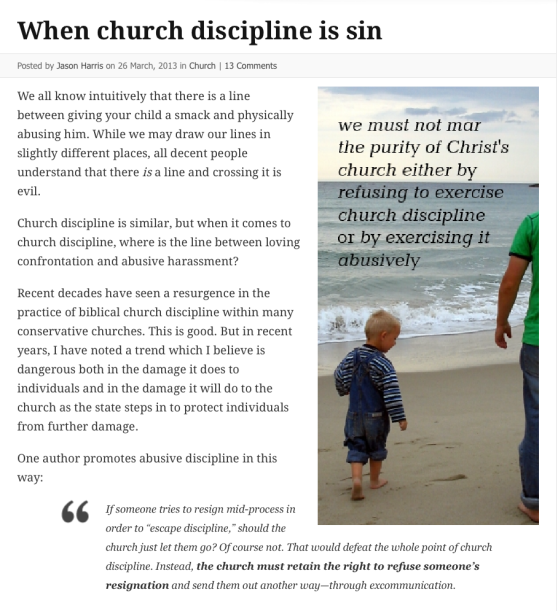 2014-07-17 When Church Discipline is Sin