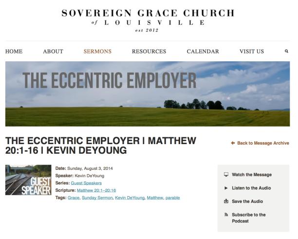 2014-08-22 Kevin DeYoung at Mahaneys church