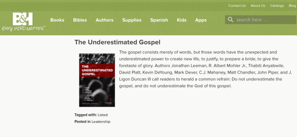 2014-08-23 underestimated gospel book by celebs