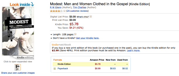 2014-09-11 Modest Book Cover on Amazon