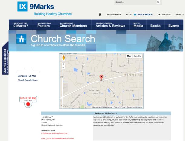 2014-09-11 RW Glen church part of 9Marks