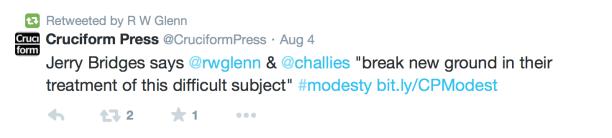 2014-09-11 RW Glenn tweet on book jerry bridges