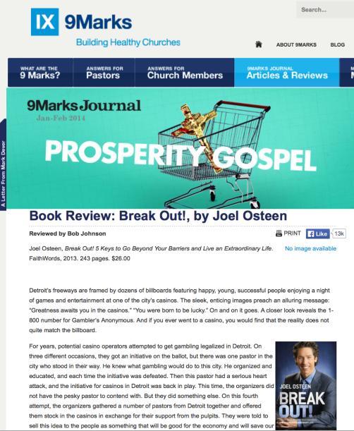 2014-10-04 9Marks Joel Osteen