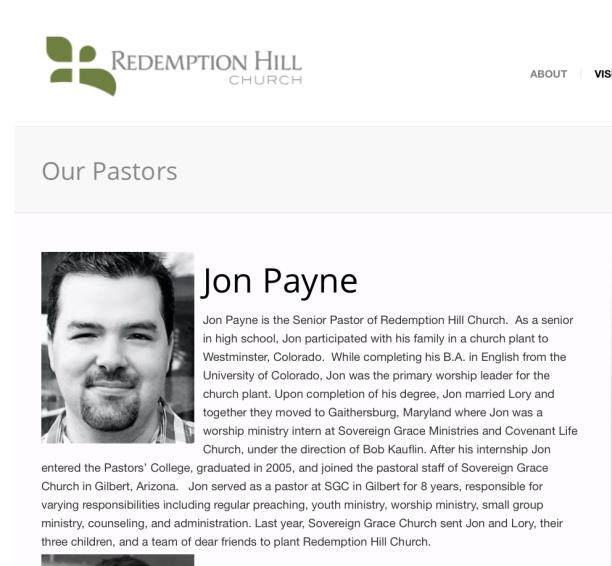 2014-10-27 Jon Payne bio