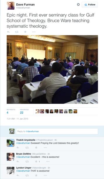 2015-01-11 Furmans Tweet about Ware