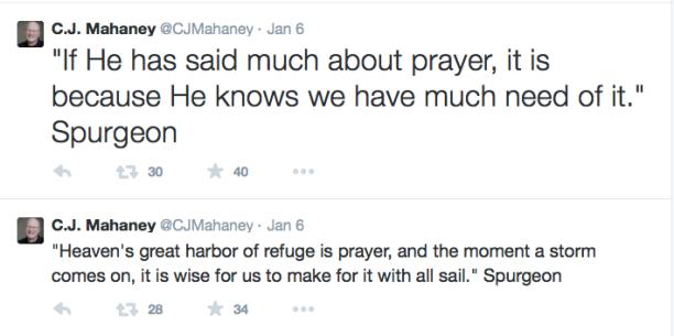 2015-01-14 Mahaney Spurgeon tweets