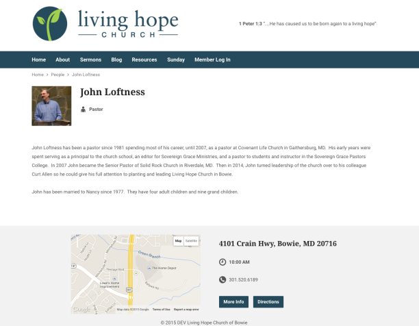 2015-01-28 John Loftness Living Hope Church