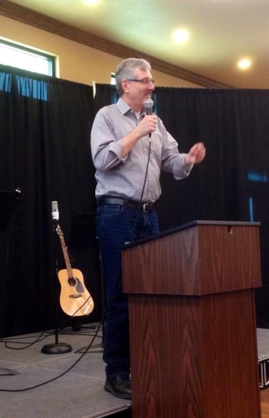 2015-05-02 John Loftness preaching at Jon Payne's church